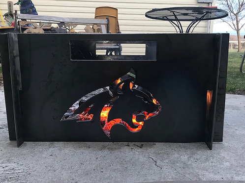 Large Portable Metal Fire Pit-Free Shipping-MSU BOBCATS Fire Pit