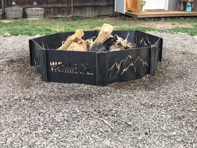 Large Portable Metal Fire Pit-Free Shipping-Custom Fire Pit-8 Panels