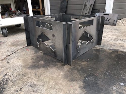 Large Portable Metal Fire Pit-Fish Fire Pit-Free Shipping