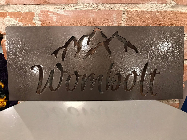 Personalized Metal Address Sign-Mountains -Free Shipping-Ships within 48 Hours