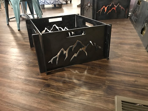 Large Portable Metal Fire Pit-Free Shipping-Mountain Fire Pit-Heavy Metal Fire