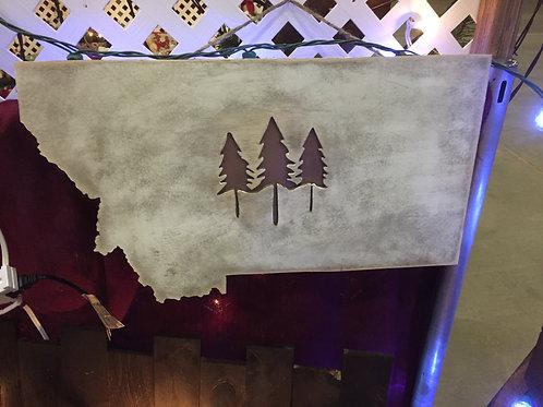 MONTANA 3 TREES WALL DECOR