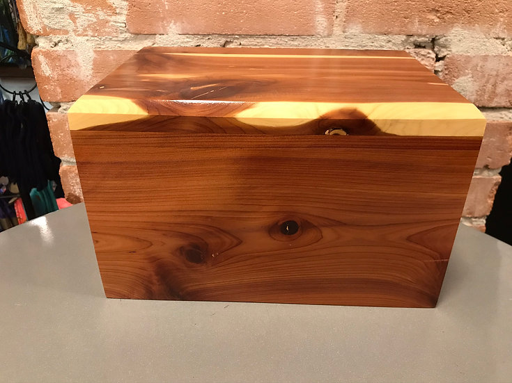 LEO WOODEN RED CEDAR BURIAL URN