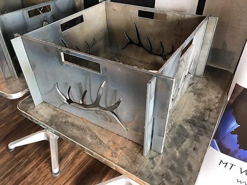 Portable Metal Fire Pit-FREE SHIPPING-Elk Antler Fire Pit-Heavy Metal Fire