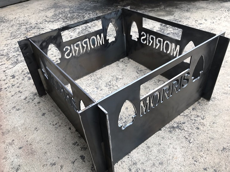 Large Portable Metal Fire Pit-Free Shipping-Arrowhead Last Name Fire Pit-Heavy