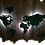 Thumbnail: WOODEN LIGHTED WORLD MAP-COLORED LIGHTS