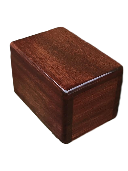 WOODEN MOHAGANY LEO BURIAL URN