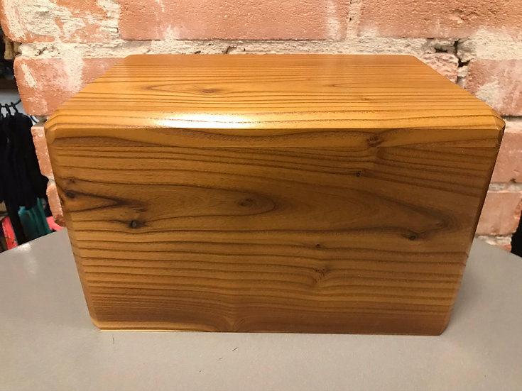LEO WOODEN RUSSIAN OLIVE BURIAL URN