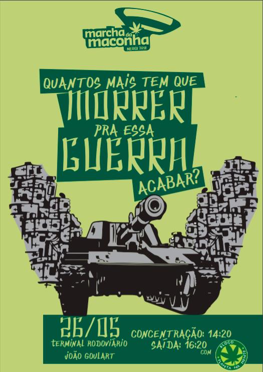 Panfleto da Marcha da Maconha Niterói 2018