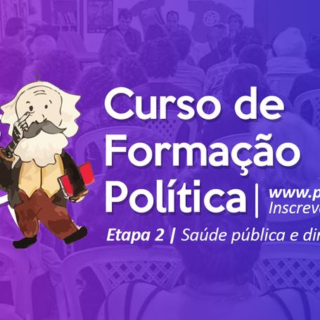 Segunda etapa do Curso de Formação Política debaterá saúde pública e direitos LGBT
