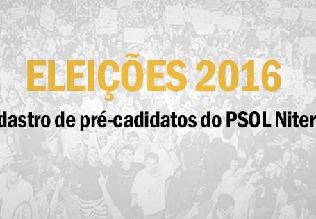 Eleições 2016 - Cadastro de pré-candidatos