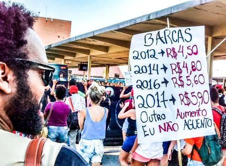 Protesto contra o aumento das passagens ocupa Terminal Rodoviário de Niterói pela segunda vez