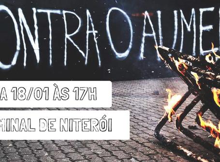Niterói terá ato essa quarta (18) contra o aumento da passagem dos ônibus intermunicipais