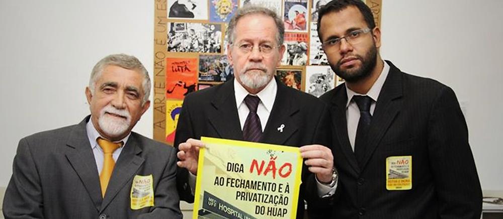 Vereadores do PSOL Niterói - Renatinho, Paulo Eduardo Gomes e Henrique Vieira