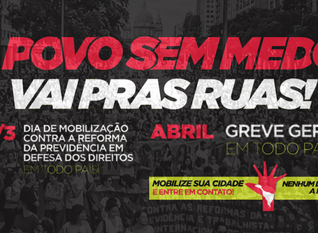 Após lei da terceirização, centrais sindicais convocam #31M e greve geral para abril