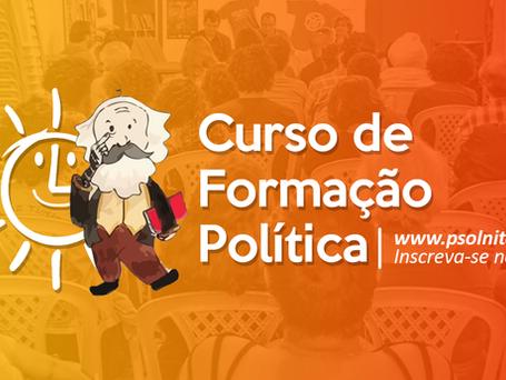 Reabertas inscrições para o Curso de Formação Política do PSOL Niterói