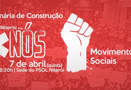 1ª plenária do 'Niterói por Nós' será com movimentos sociais das cidade