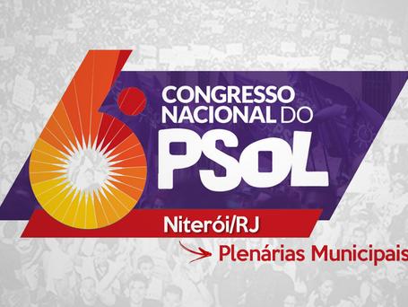 Confirmadas as plenárias de Niterói para o 6º Congresso Nacional do PSOL