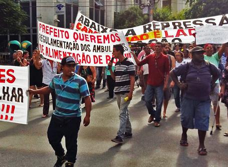 Manifestação dos trabalhadores ambulantes de Niterói essa quinta (05) às 15h
