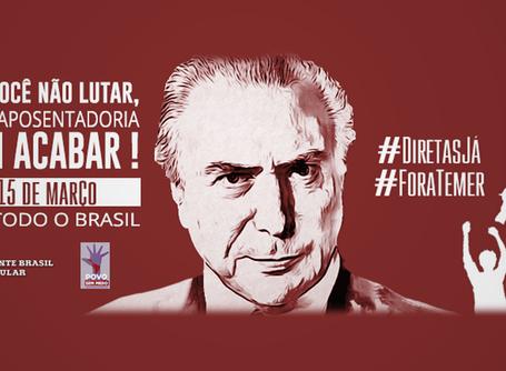 #15M | Nesta quarta, 20 capitais brasileiras vão às ruas contra Reforma da Previdência
