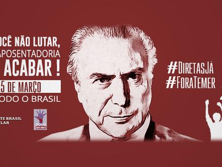 #15M   Nesta quarta, 20 capitais brasileiras vão às ruas contra Reforma da Previdência