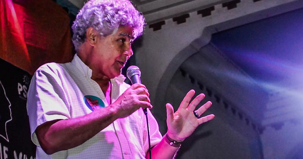 Chico Alencar em lançamento da pré-candidatura Flavio Serafini no Clube dos Democráticos | Foto: Andrew Costa