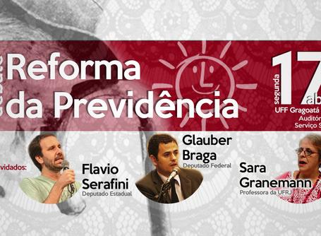 Debate sobre Reforma da Previdência acontece segunda (17) na UFF