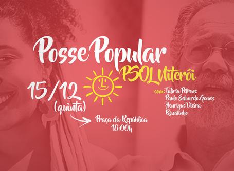 Posse popular do PSOL Niterói acontece essa quinta (15) em praça pública