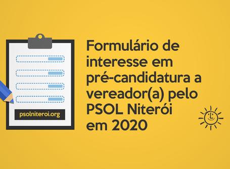 Inscrições para interessados em pré-candidatura a vereador(a)