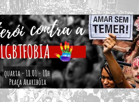 """Ato """"Niterói contra a LGBTfobia"""" acontece quarta (18) às 18h na Praça Araribóia"""