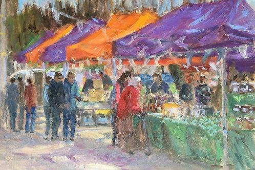 Market day, 30cm x 20cm