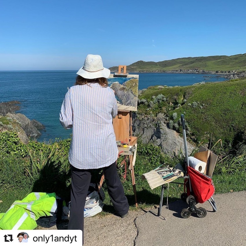 Painting in North Devon