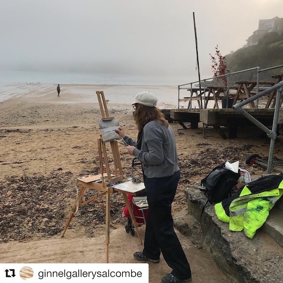 painting in Salcombe