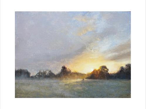 Giclee Print Through Golden Mists