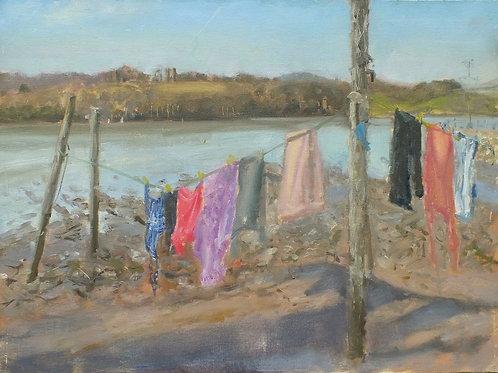 Spring washing, 40cm x 30cm