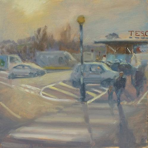Winter morning at Tesco 30cm x 30cm