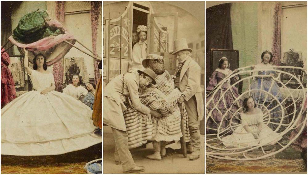 Examples of crinoline dresses 19th century