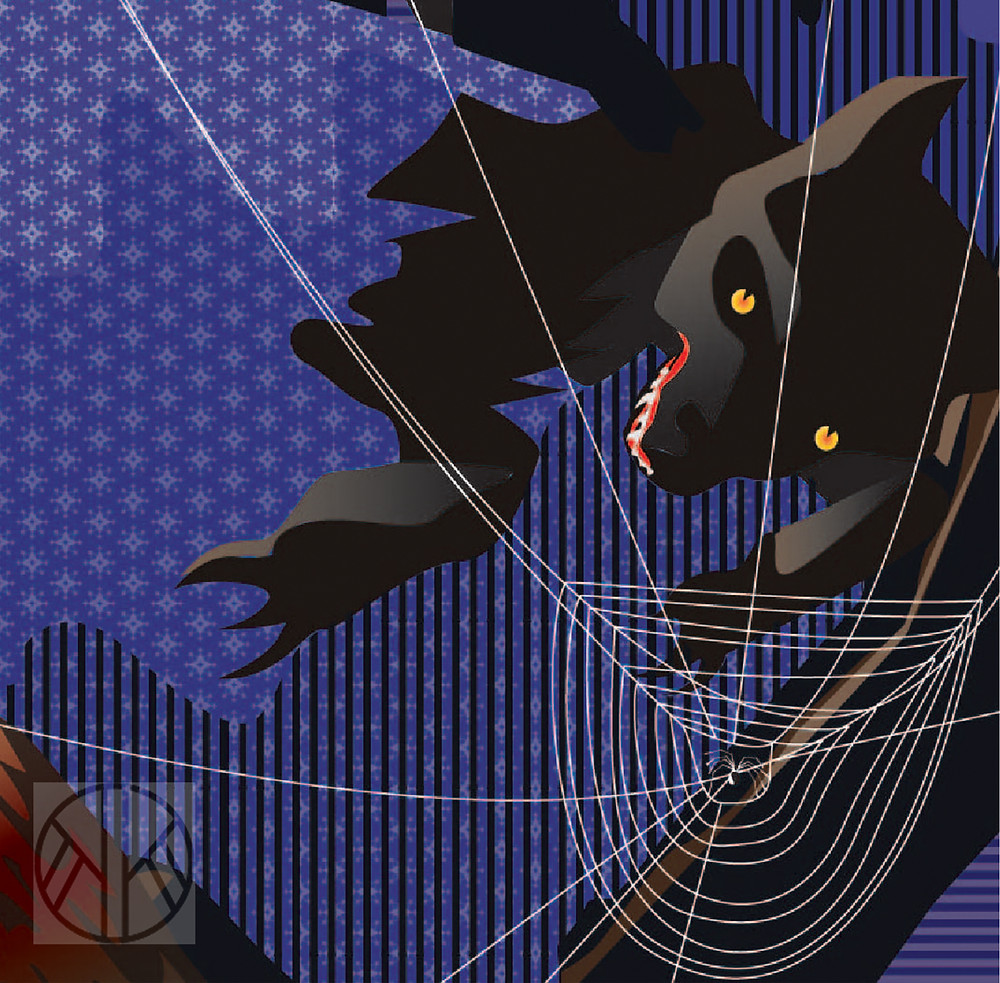 El lobo de caperucita. Ilustración digital de Keith Khan