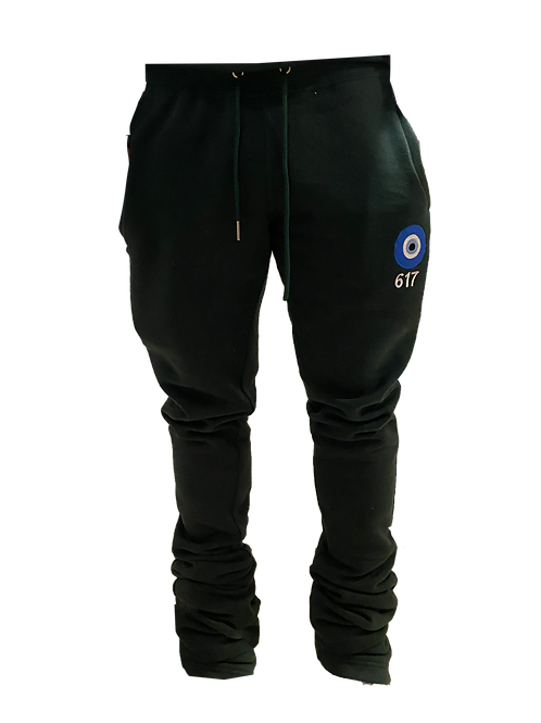 617 'Envy Me' Nature Green Stacked Sweatpants