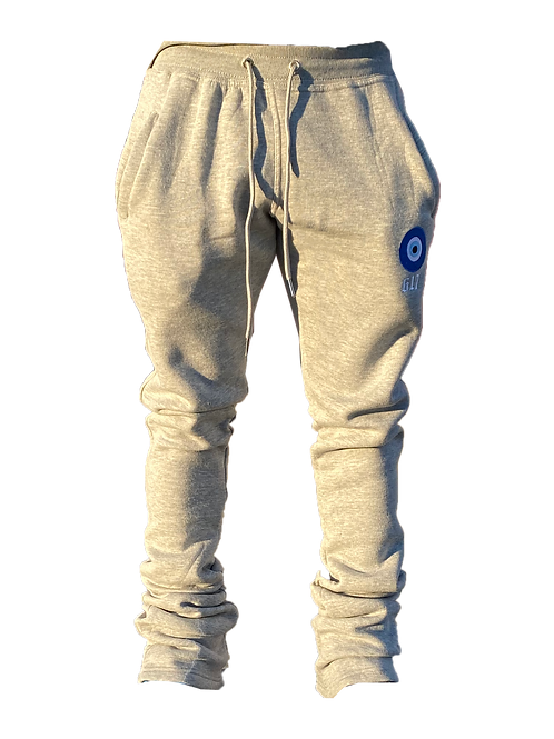 617 'Envy Me' Heather Gray Stacked Sweatpants