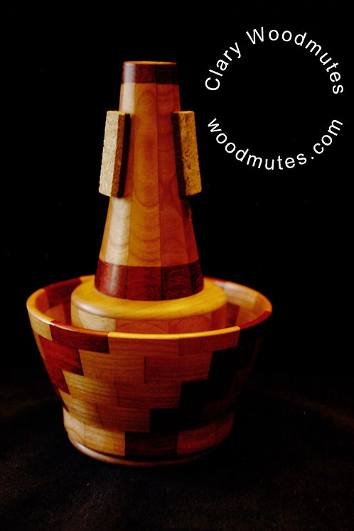 Clary Woodmutes S.G.C. Cup Mute: Wooden Trumpet Cup Mute
