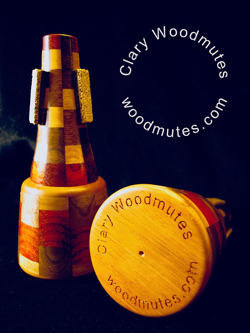 Clary Woodmutes Nicholson Straight Mute: Wooden Trumpet Straight Mute