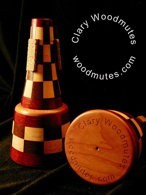 Clary Woodmutes Mooch Straight Mute: Wooden Trumpet Straight Mute
