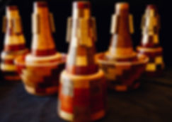 wooden trumpet mutes: Clary Woodmutes