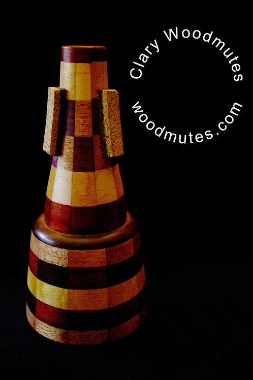 Clary Woodmutes Avery Straight Mute: Wooden Trumpet Straight Mute