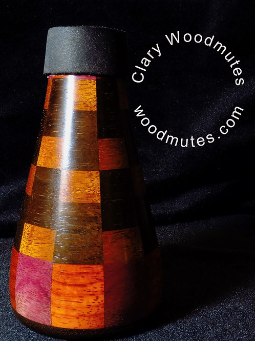 Clary Woodmutes Practice Mute: Wooden Trumpet Practice Mute