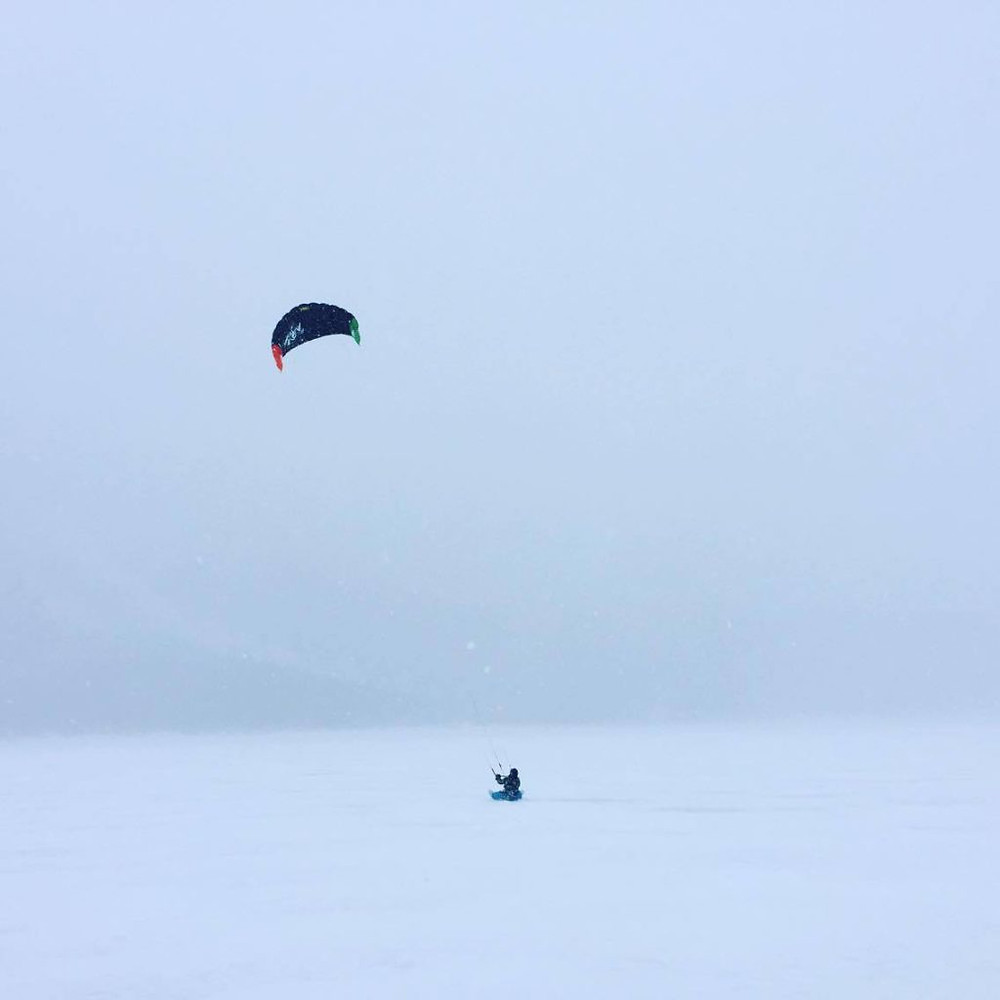 Snowkiting in the Canadian Rockies