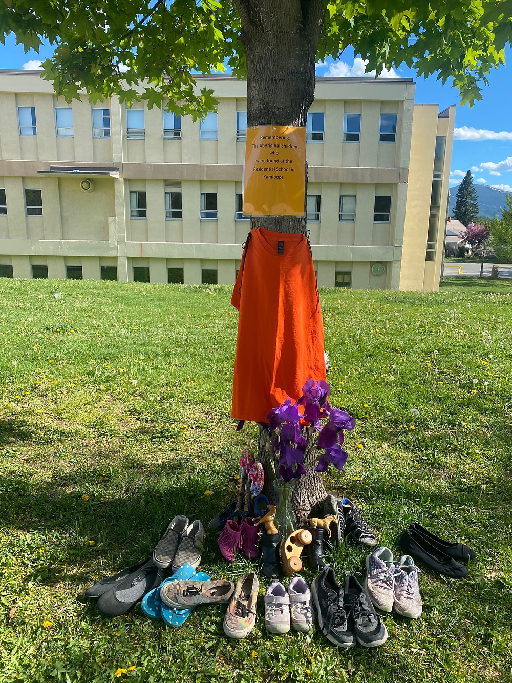 This was taken by a school in Kimberley, BC, but similar memorials are now across the country, yet some suggest this is just old history.