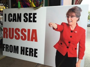 Alaskans seem to have given up on Ms. Palin - and it is possible to see Russia, but not from Anchorage!