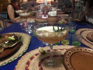 A mezcal cocktail